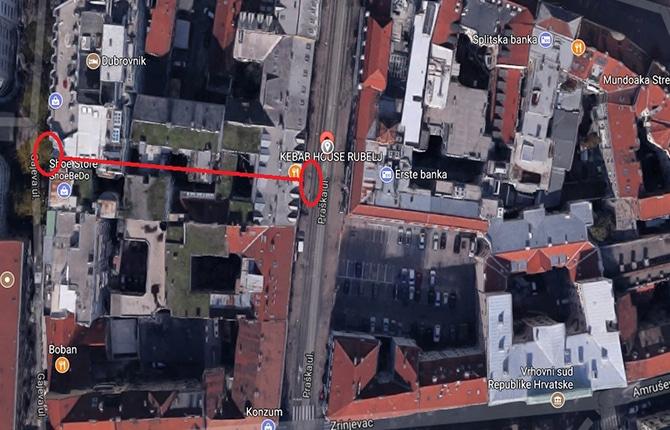 Mapa I Upute Hotel Dubrovnik In Zagreb
